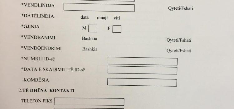 """Drafti i Formularit të Ri të Anëtarësimit tek """"ZGJIDHJA"""""""