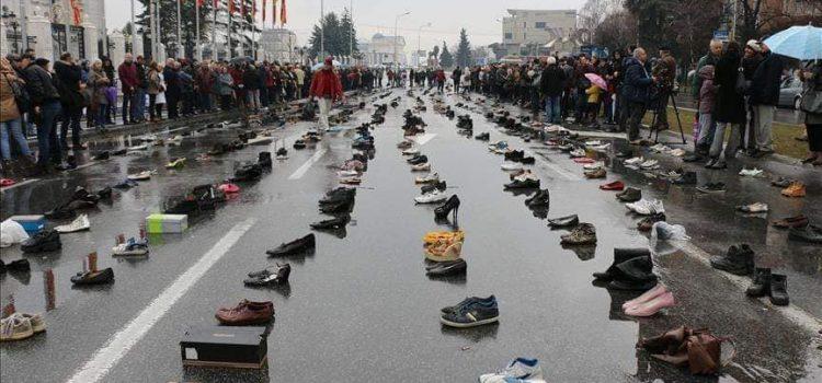 Deklaratë shtypi e partisë ZGJIDHJA: Protesta e këpucëve për shqiptarët e larguar