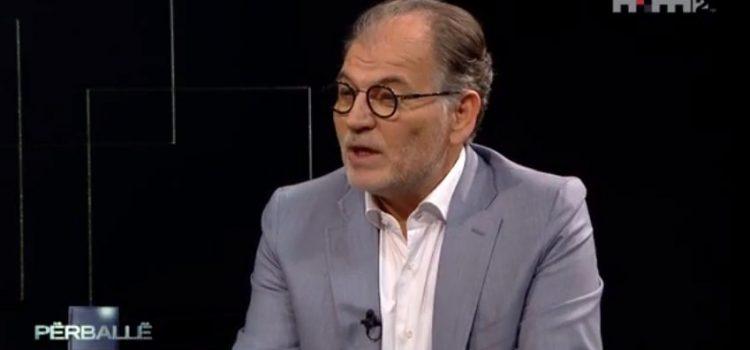 Intervista e kryetarit të partisë 'Zgjidhja', Koço Kokëdhima, me gazetarin Lutfi Dervishi në emisionin 'Përballë', në TVSH